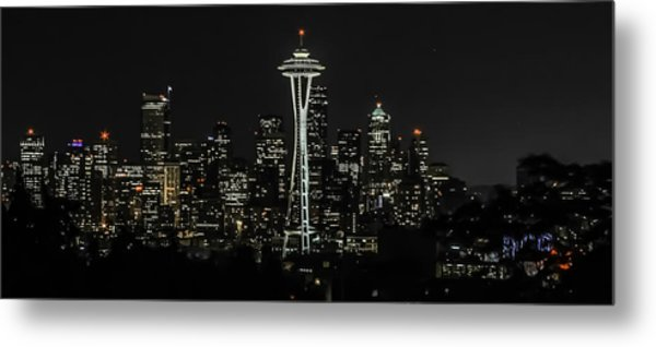Seattle Skyline From Kerry Park Metal Print by CarolLMiller Photography