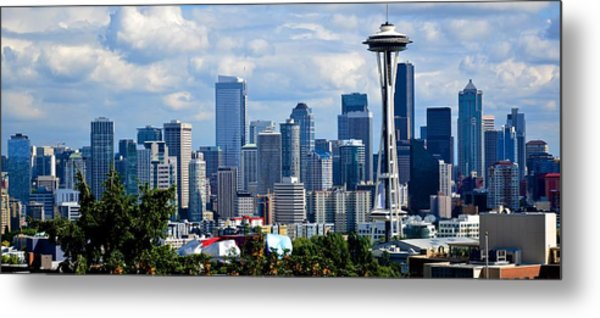 Seattle Skyline Panorama Metal Print