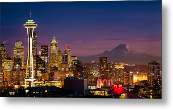 Seattle Sunset Metal Print