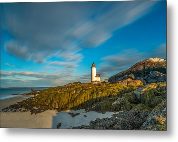 Seaweed Swagger And Time Traveling Clouds  At Annisquam Harbor L Metal Print