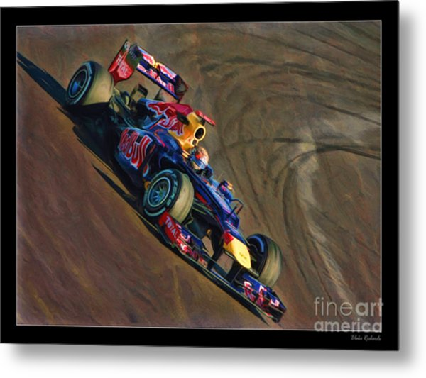 Sebastian Vettel - Red Bull Metal Print