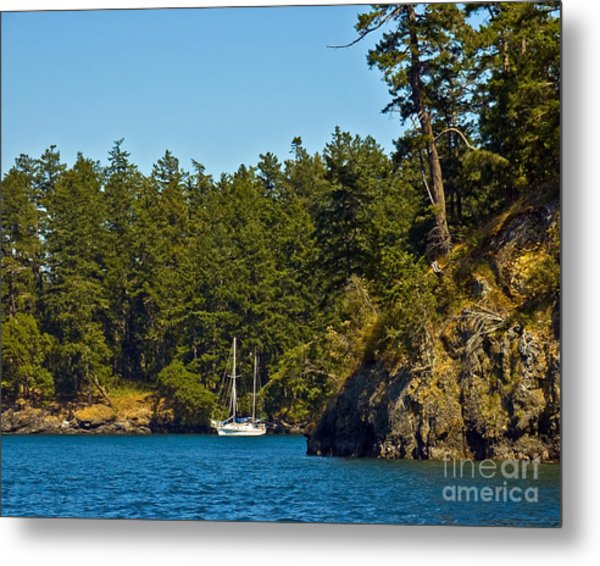 Secluded Anchorage Metal Print by Chuck Flewelling