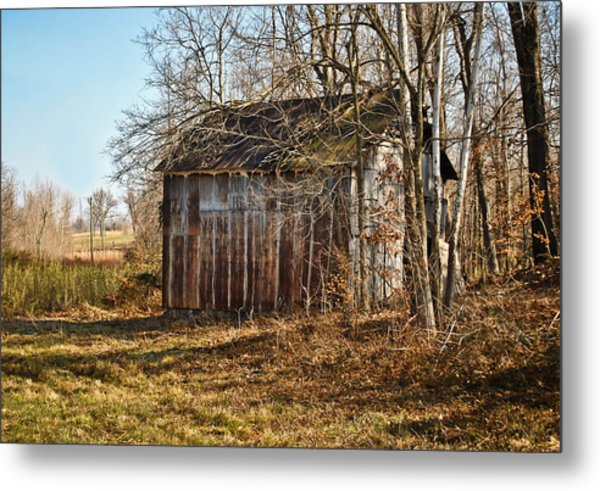 Secluded Barn Metal Print