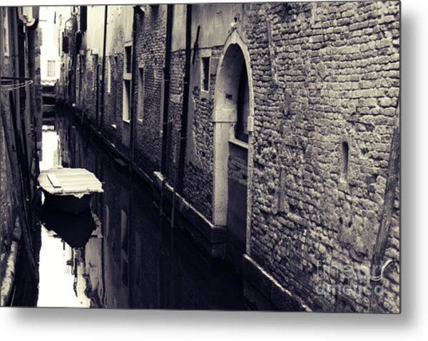 Secluded Canal In Venice Metal Print by Ernst Cerjak