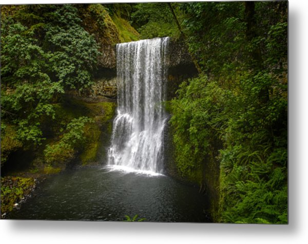 Secluded Falls Metal Print