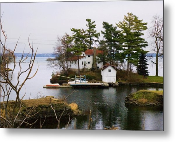 Seclusion On The Saint-laurent Metal Print