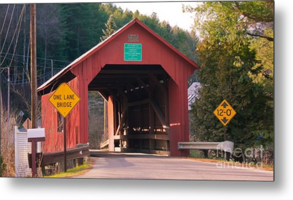 Second Covered Bridge. Metal Print