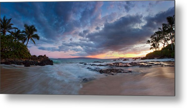 Secret Beach Pano Metal Print