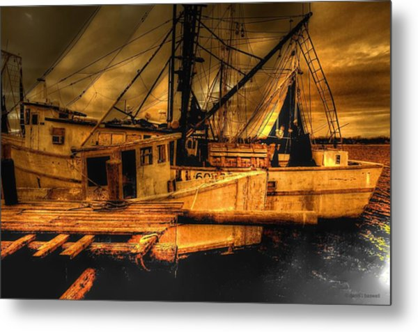 Secret Catch Metal Print