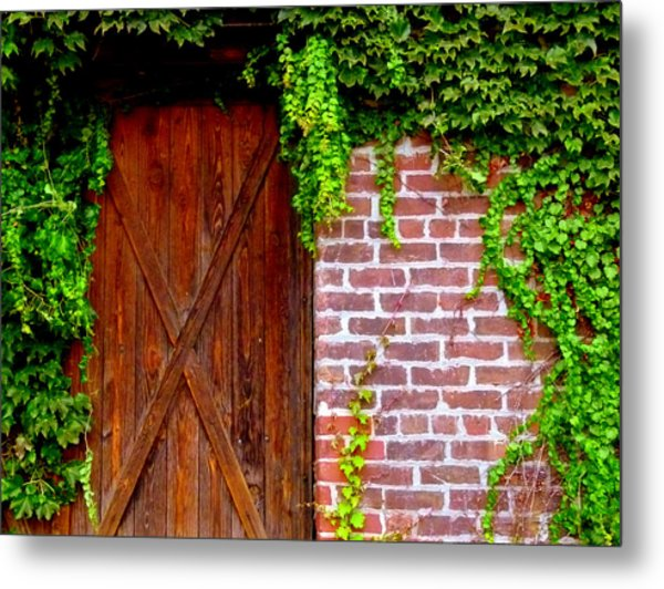 Metal Print featuring the photograph Secret Door by Jeff Lowe
