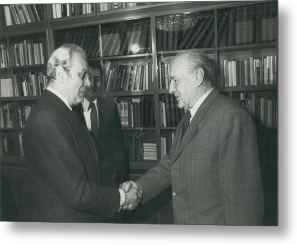 Secretary-general Visits Hungary Metal Print by Retro Images Archive