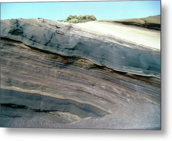 Section Through Lava Formation Metal Print