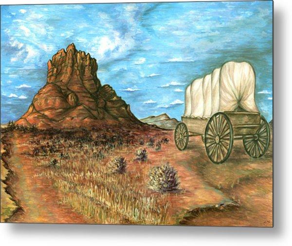 Sedona Arizona - Western Art Painting Metal Print