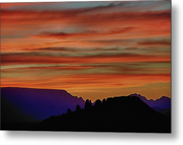 Sedona Az Sunset 2 Metal Print