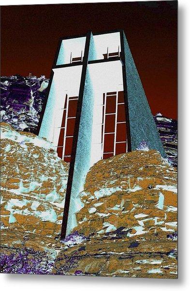 Sedona Rock Church Metal Print