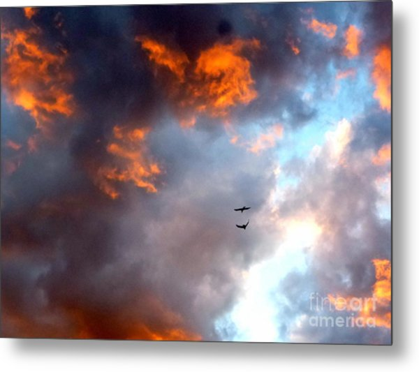 Sedona Sunset Ravens Metal Print
