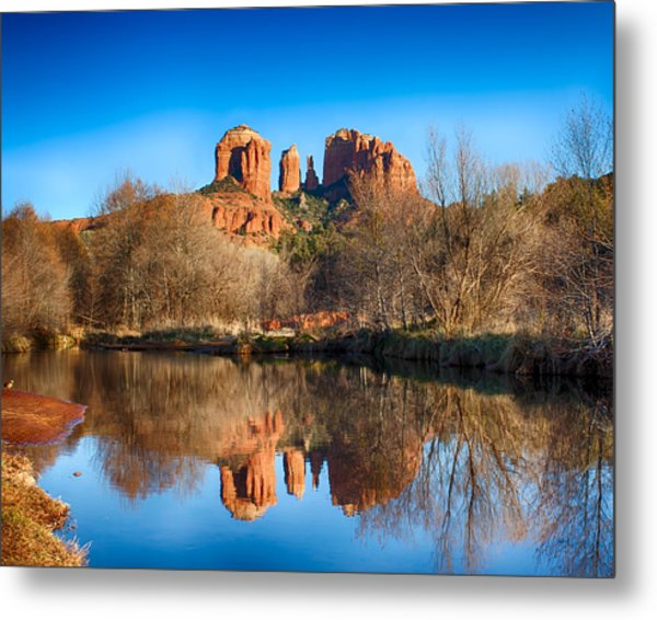 Sedona Winter Reflections Metal Print