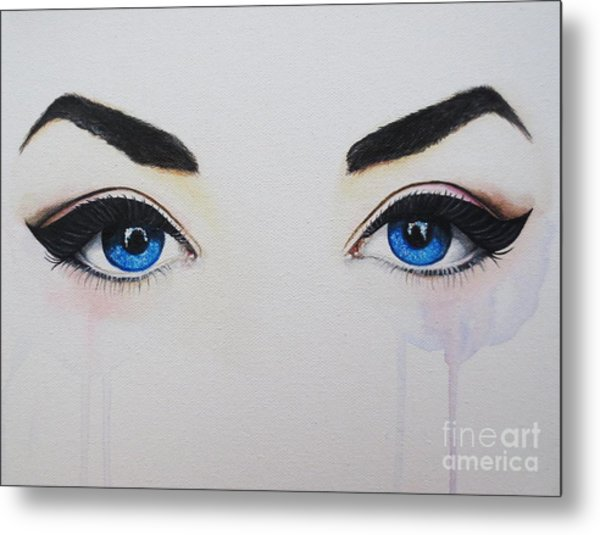 Seeing Into The Soul Seductive Metal Print