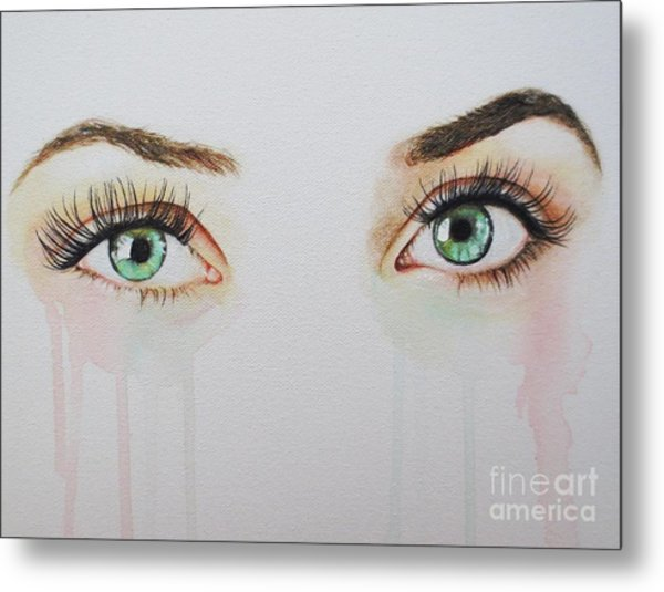 Seeing Into The Soul Sultry Metal Print