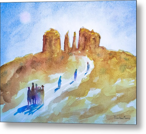 Seekers At Cathedral Rock Metal Print