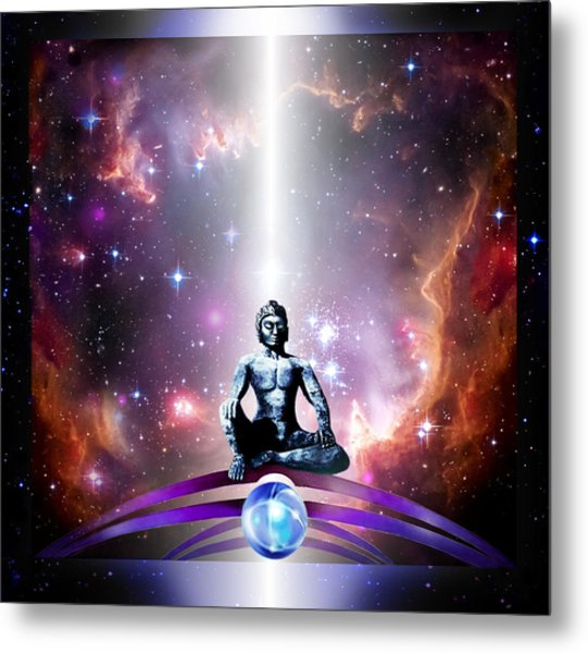Metal Print featuring the painting Seeking  by Hartmut Jager
