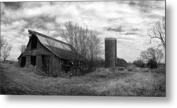 Seen Better Days Black And White Metal Print