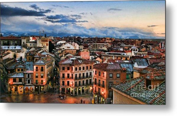 Segovia Nights In Spain By Diana Sainz Metal Print