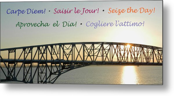 Seize The Day - Annapolis Bay Bridge Metal Print