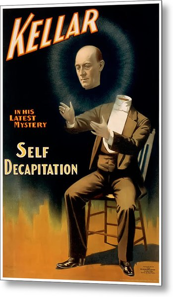 Self Decapitation Metal Print