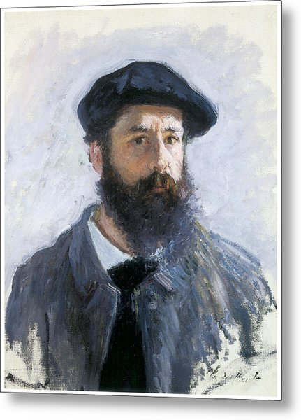 Self-portrait Metal Print by Claude Monet