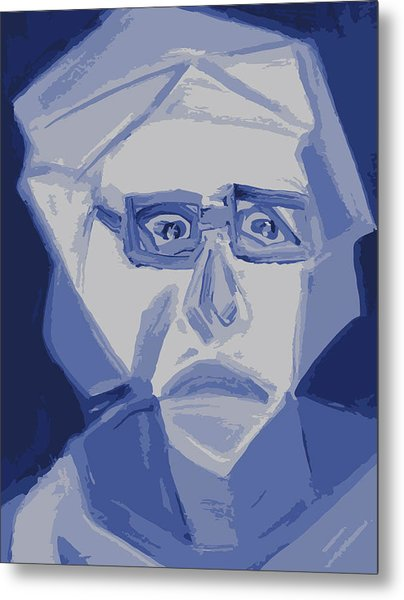 Self Portrait In Cubism Metal Print