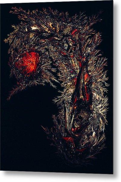 Self Signatures Until The Final Darkening Metal Print by R Johnson