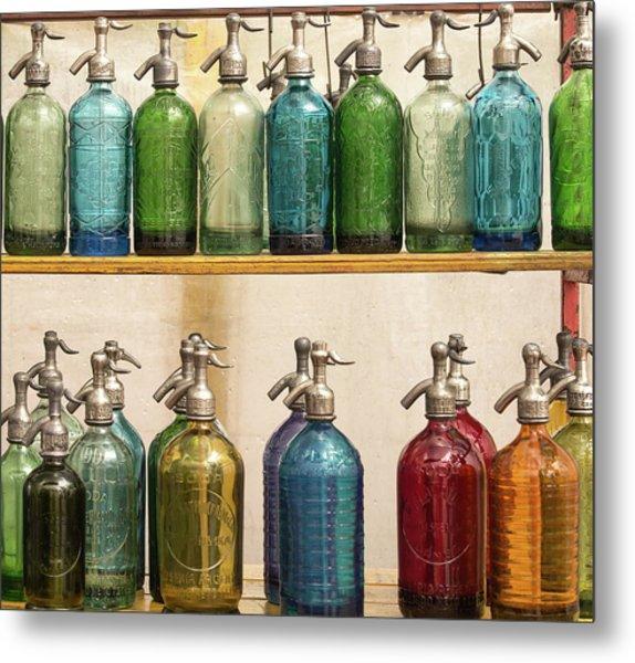 Seltzer Bottles Metal Print by Ugur Erkmen