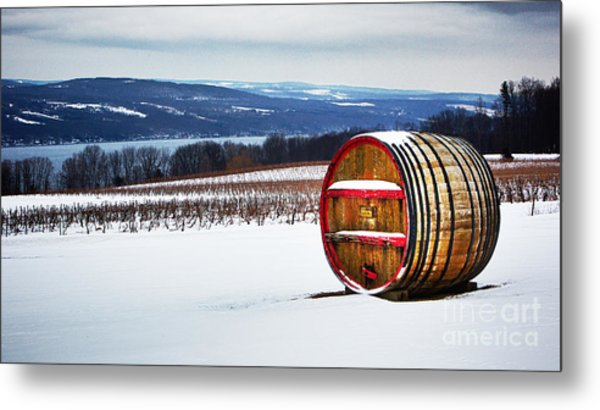 Seneca Lake Winery In Winter Metal Print