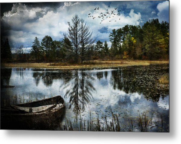 Seney And The Rowboat Metal Print