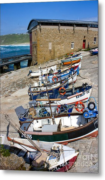 Sennen Cove Fishing Fleet Metal Print