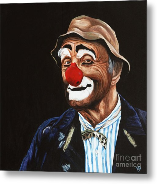 Senor Billy The Hobo Clown Metal Print