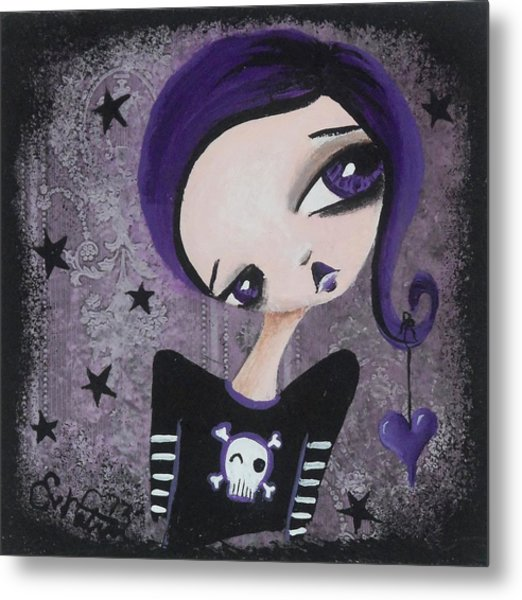 Sentimentally Deranged - Black Star Metal Print