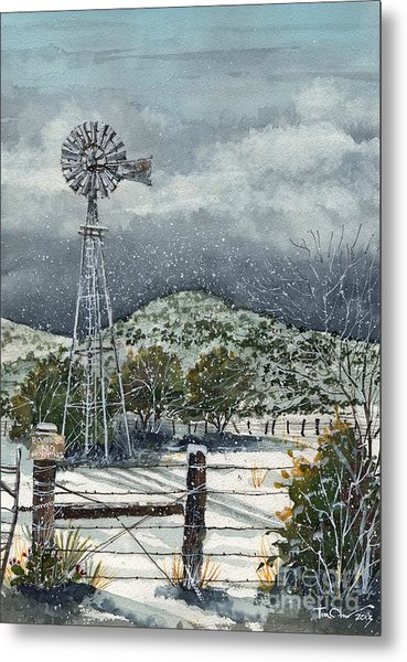 Sentinel Peak On Sentinel Ranch Metal Print