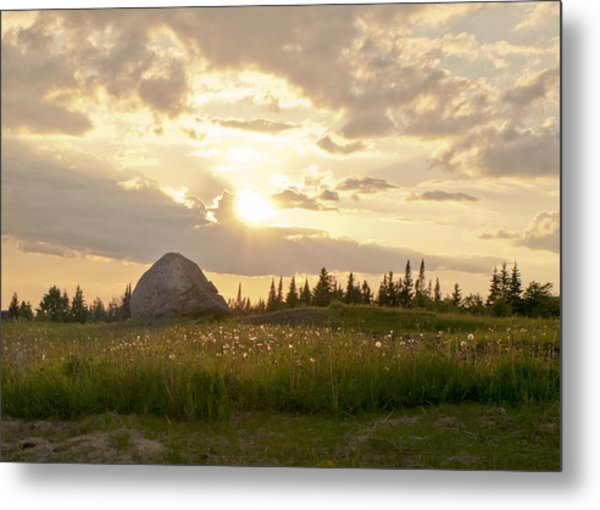 Sentinel Rock Sunset Metal Print