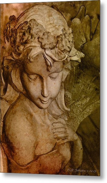 Sepia Angel Metal Print