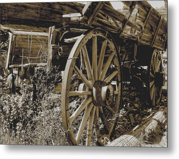 Metal Print featuring the photograph Sepia Wagon by David Armstrong