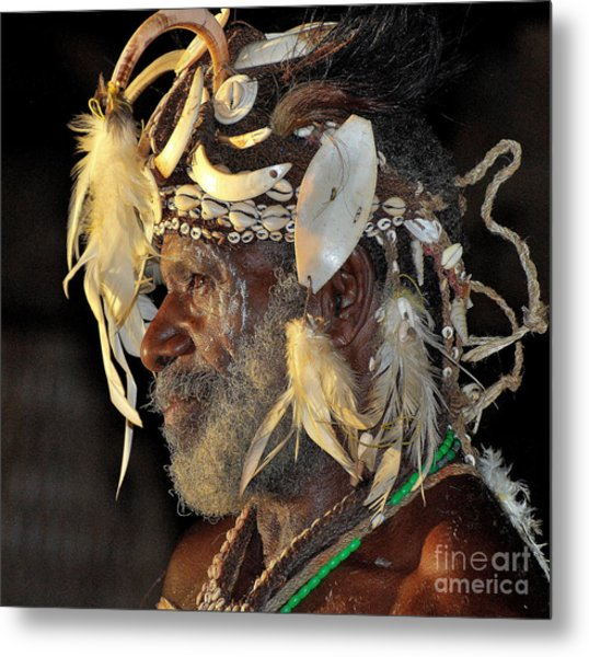 Sepik River Elder Metal Print
