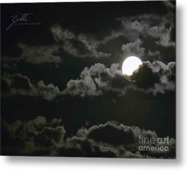September Moon Metal Print