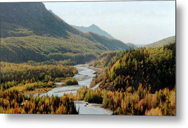September Morning In Alaska Metal Print