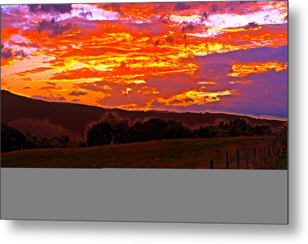 September Smokies Sunrise Metal Print