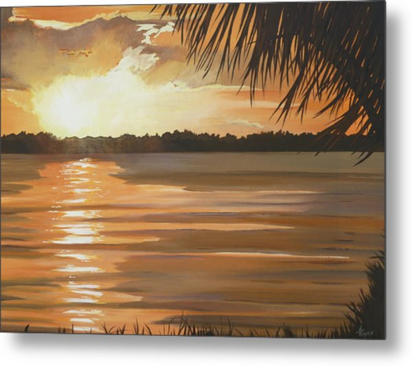 September Sunset 7 32pm Haulover Park Metal Print by Lori Royce