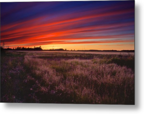 September Sunset North Pole Alaska Metal Print
