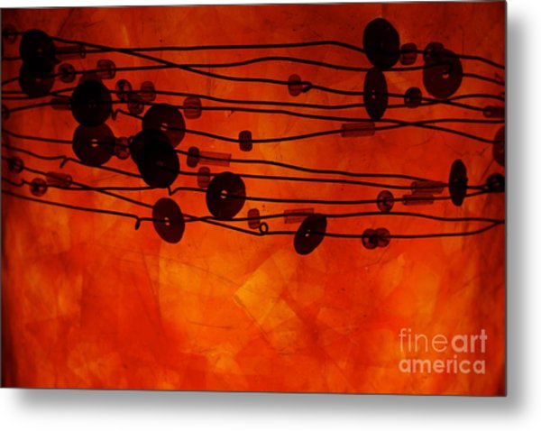 Sequence And Wire Metal Print