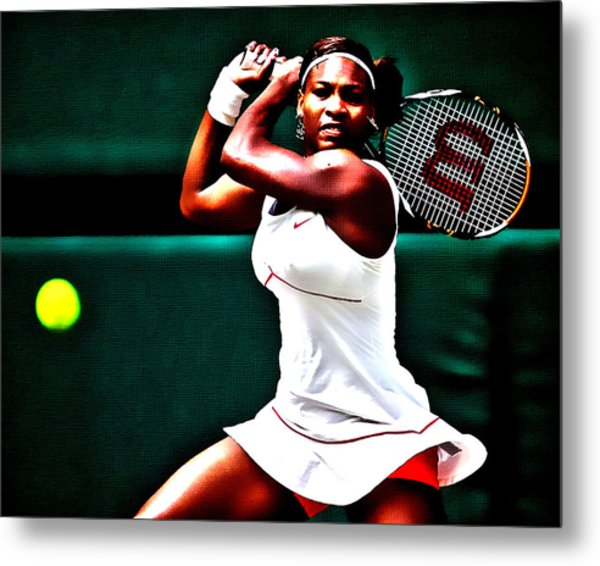Serena Williams 3a Metal Print